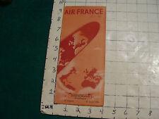 vintage HIGH GRADE travel brochure: AIR FRANCE --Jan 20-1954 Deutschland clean