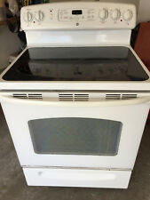 Ge Electric Range White with Black Cooktop #Jb680D-P1Ww