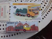 dinky atlas berliet stradair porte machine outil  fiche et certificat