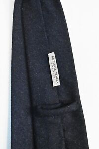 Stunning Bottega Veneta Heavy Angora Blend Charcoal Grey Neck Tie Made in Italy