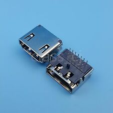 50Pcs HDMI 3Row 19Pin Right Angle Female Socket PCB DIP Solder Connector