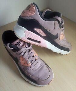 Ladies Nike Air Max 90 Trainers Uk 4.5 EU 37.5 Pink White Black Lilac
