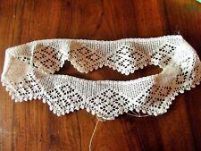 dentelle au crochet fait main fermé en rond 76 cm x 7cm@old lace