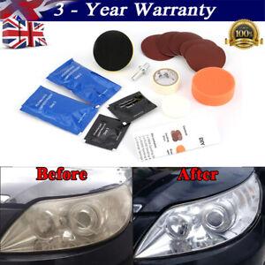 Headlight Restoration Kit and Lens Sealer Restore Plastic Headlamps Repair set