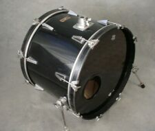 "80's YAMAHA STAGE SERIES 22"" BLACK BASS DRUM, JAPAN"