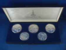 Gedenkmünzensatz Münzen Olympia 1980 Moskau 3x10 und 2x5 Rubel  Silber #1