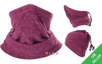 ELKO® Multiuse Fleece Winter Neck Warmer Tube Balaclava Snood Scarf Thermal Snow