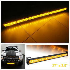 24 LED Full Amber Emergency Hazard Warning Traffic Advisor Car Strobe Light Bar