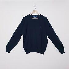 Polo Ralph Lauren Mens Size XL Black Cotton Pullover Sweater Jumper