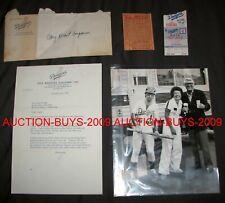 Rocketman Elton John - Cary Grant - LA Dodgers Ticket & Letter - Photograph Lot