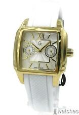New Swiss Guess Gc Women Gold Multi-Function Pearl Watch 35 x 45mm 26004L1 $329
