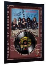 Appetite for Destruction Guns N' Roses SIGNED FRAMED PHOTO PRINT AND Mini LP