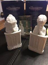 "Department 56 Silhouette Treasures ""I Believe"" Girl & Boy Figurines 78638/78639"