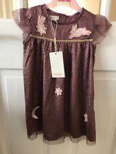 Monsoon Lucinda Purple Fête Sparkle dress 2-3 years