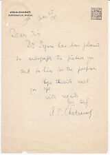 BENGALI POET AMIYA CHAKRAVARTY 1931 AUTOGRAPH LETTER - Friend of TAGORE