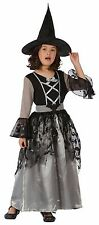 SPARKLE WITCH HALLOWEEN GIRLS GREY OUTFIT HOCUS POCUS COSTUME AGES 4-12 YEARS