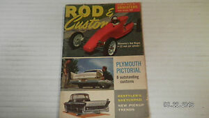 1958 FEBRUARY ROD & CUSTOM MAGAZINE.#1.PLYMOUTH PICTORIAL..8 OUTSTANDING CUSTOMS