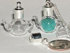 1 Tall Tea Pot Coffee teapot Glass bottle pendant clear