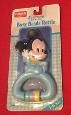 Disney Babies Busy Beads Rattle Mickey Mouse (New in Package) Playskool Baby