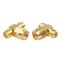 2-Pack SMA Female to Female to Male Connector Adapter for Cell Phone Booster