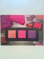 3 x URBAN DECAY AFTERGLOW - 8-hour Powder Blush Samples - Authentic