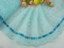 """6""""*1yard Delicate Light Green Embroidered Flower Tulle Lace Trim for DIY 0288"""