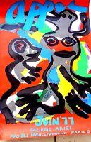 LItho Karel APPEL (1921-2006) Affiche Originale d'exposition Galerie Ariel .ARTE