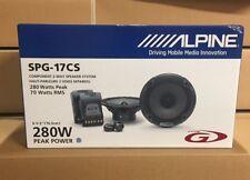 "Alpine SPG-17CS 17cm 6.5"" 2 Way Component Car Speakers 280w 1 PAIR inc grilles"