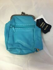 Turquoise Genuine Lambskin Leather Cigarette Case Pouch 100's