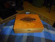 Vintage SANCHO PANZA Wood Dovetailed 25 Cigar Display Box VG !