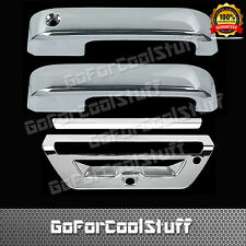 15-Up For Ford F-150 2Drs Handle W/O Smrt Keyhole+Tg W/Camera Hole Chrome Cover
