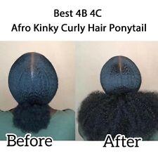 Afro Kinky Human Hair Ponytail