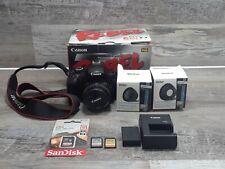 Canon Rebel EOS T3 DSLR Digital SLR Camera 50mm Lens battery bundle