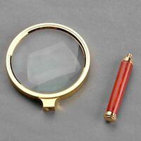 10x 90mm Handlupe Lesen Lupe Lupe Glaslupe Echtglas Lupe Vergrößerungsglas G4T1