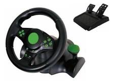 Gaming Vibration Racing Steering Wheel 23cm and Pedals for Xbox 360 PlayStation 3 PC USB