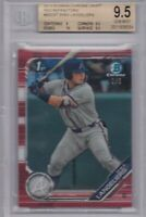 SHEA LANGELIERS ROOKIE 2019 Bowman Chrome Draft Red Refractor BGS 9.5 GEM MINT