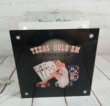 "Vegas Lights Graphic Shadow Box Texas Hold'em 2005 Cnb Girl On Chips 8"" x 8"""