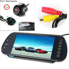 "7"" MP5 Bluetooth Car Rearview Mirror Monitor+360° Degree Rotatable Backup Camera"