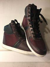 Sean John High Top Basketball Shoes, Men's Size 10 EUR 43 Black Brown Red