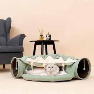 Interactive Cat / Rabbit Tunnel - Bed Mattress Kennel Sleeping Mat Pet Supplies