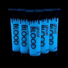 Moon GLOW UV fantasma sangre 500ml-Halloween-se seca Brilla Azul bajo UV Invisible
