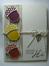 Stampin Up Acorny Dropping in to say Hi Thank You Fall Tree Card Kit - 2 Cards