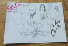 DIE APOKALYPTISCHEN REITER Autogramm Karte mit Originalunterschriften