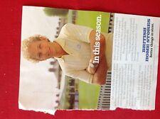 A1g ephemera advert 1980s british home stores david gower