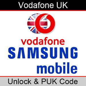 Vodafone UK Samsung Unlock & PUK Code (FAST/SAME WORKING DAY PROCESSING)