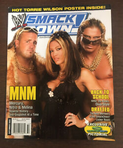 WWE SmackDown Magazine September 2005 MNM Melina Nitro Mercury Divas No Poster