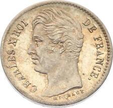 O4584 RARE 1/4 Franc Charles X  1828 A Paris Argent FDC ->F offre