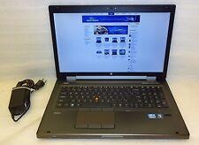 "HP EliteBook 8760W 17"" intel Core i5 2.50GHz 8GB RAM 320GB Windows 10 Pro ATI"