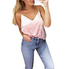 Fashion Womens Tank Tops Vest Summer Crop Bustier Bra Bralette Shirt Halter Cami
