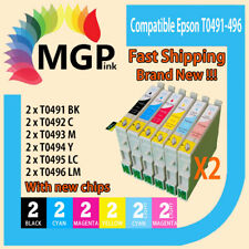 12xCompatible Ink cartridge for  Epson Printer R210 R230 RX510 RX630 R310